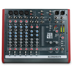 Allen & Heath ZED10 10 Channel USB Mixer
