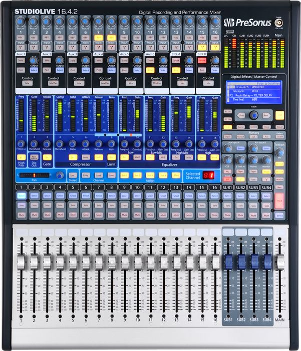 presonus studiolive 16 channel digital mixer the music complex ri. Black Bedroom Furniture Sets. Home Design Ideas