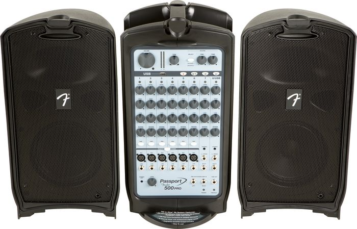 8-channel Fender Passport 500 PRO Portable PA system