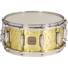 Gretsch's Hammered Brass snare features