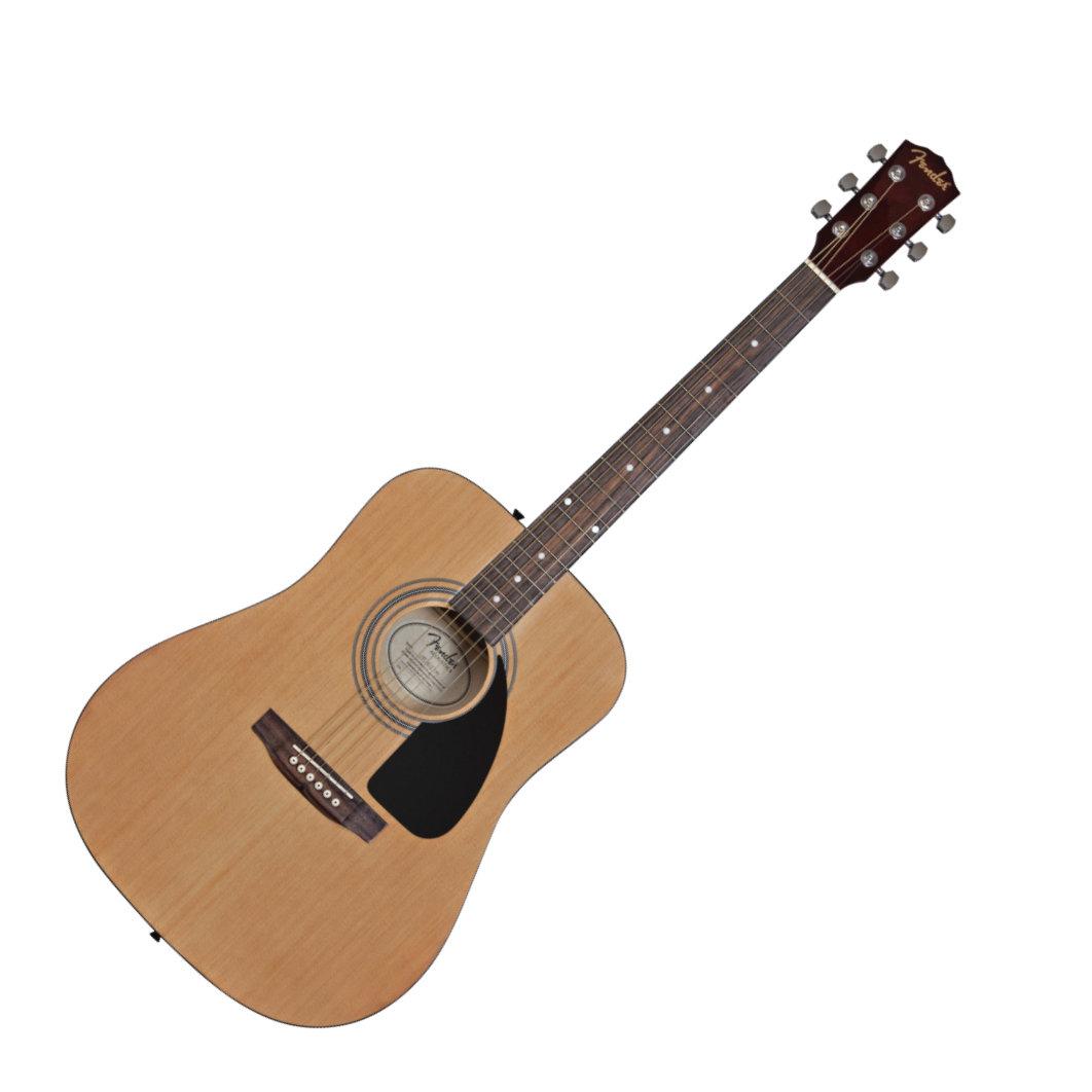 7fc01afbf9 Fender FA100 Dreadnought Acoustic Guitar Package – The Music Complex RI