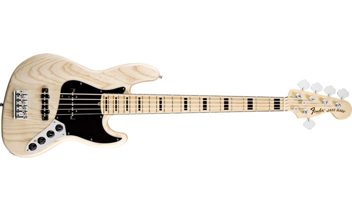 FENDER American Deluxe Jazz Bass V (Five String) Ash, Maple Fret
