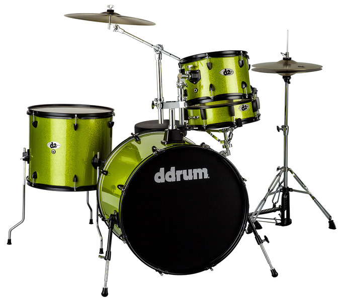 ddrum D2R Rock Kit with Hardware, Cymbals, and Sticks