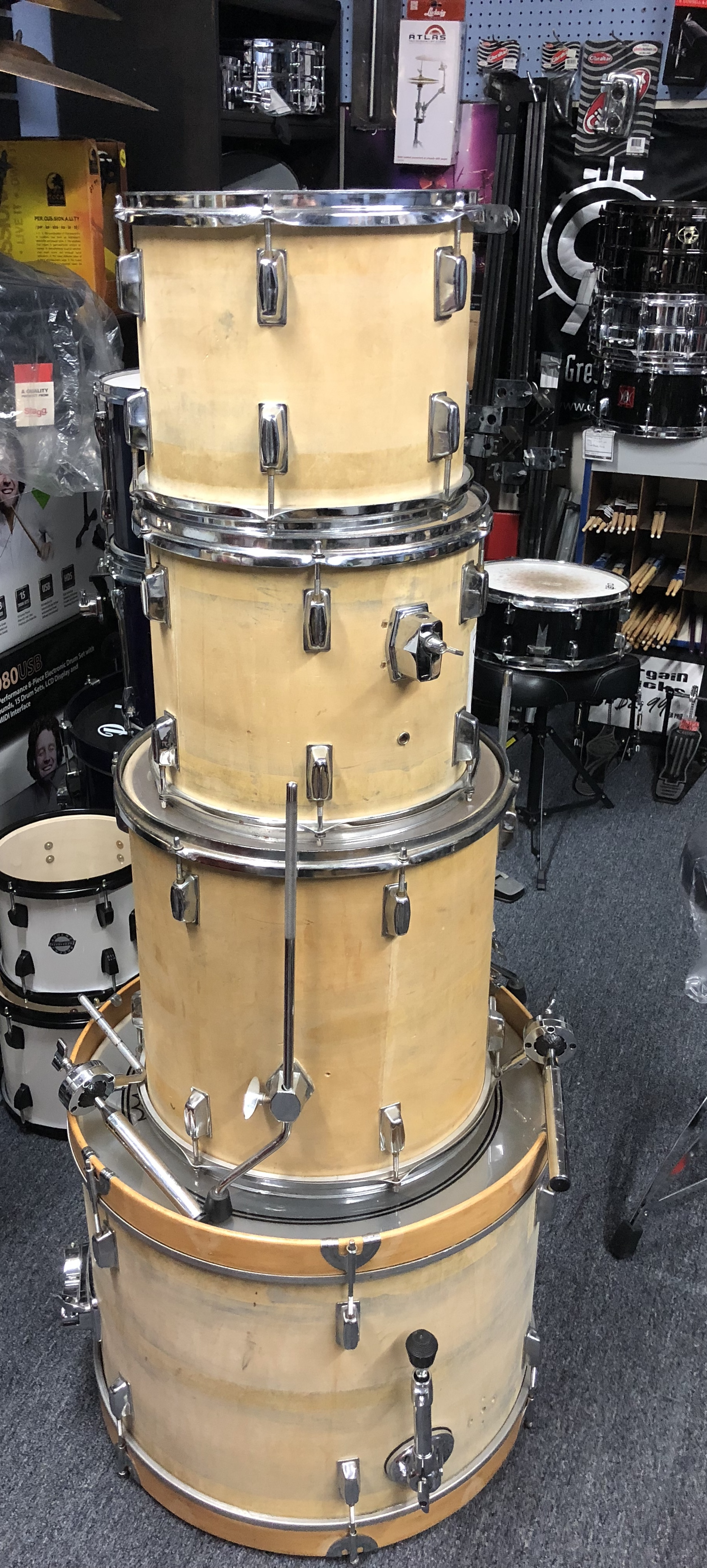 used assorted drum set the music complex ri. Black Bedroom Furniture Sets. Home Design Ideas