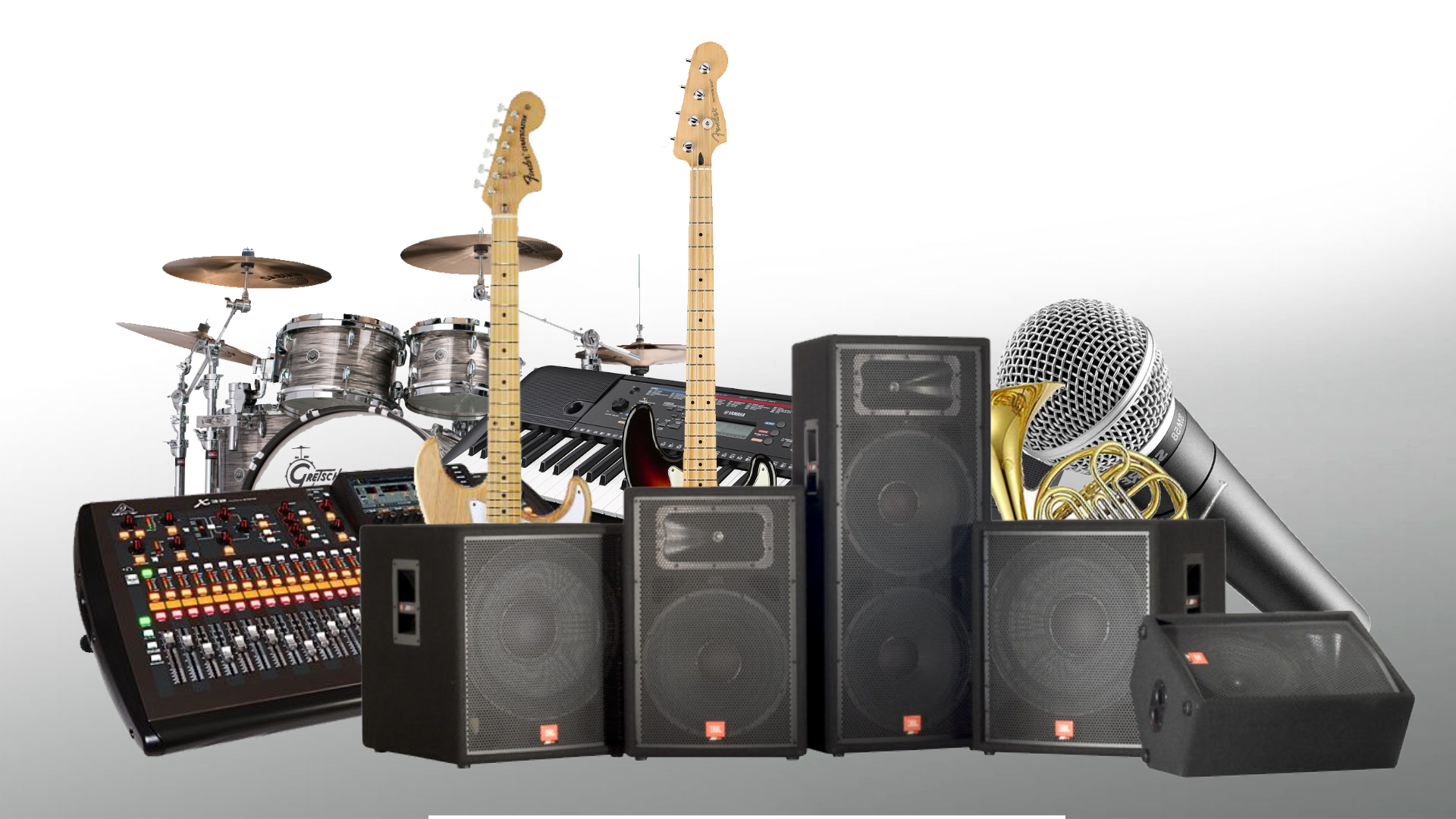 Instrument, Equipment and PA System Rentals – The Music